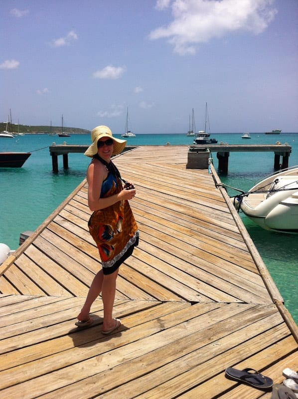 A dock along Anguilla coast