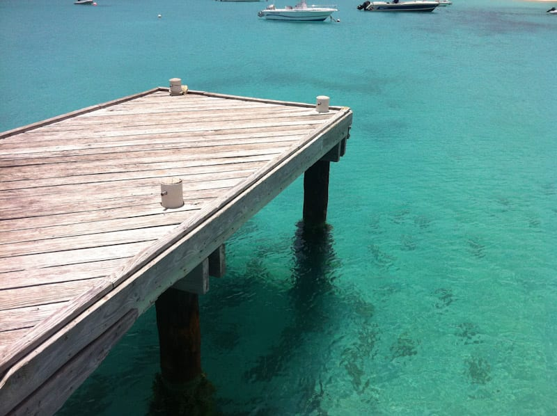 Dock over the sea of Anguilla