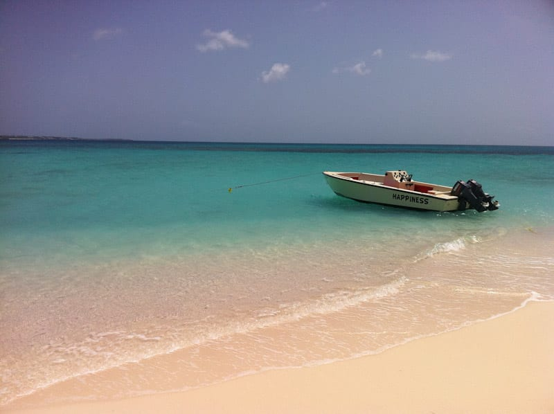 Boat along the shore of Anguilla