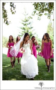 Bridesmaids at Grants Pass Wedding