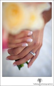 Photograph of bride and bouquet at Grants Pass Wedding