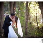 Groom and Bride outdoors at Grants Pass Wedding
