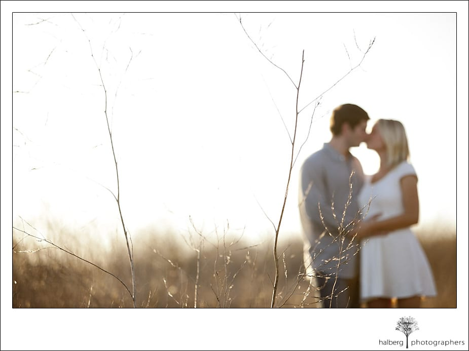 Couple embracing amongst the brush in Santa Barbara engagement session