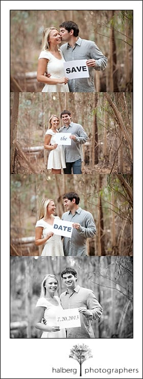 Save the date photo collage