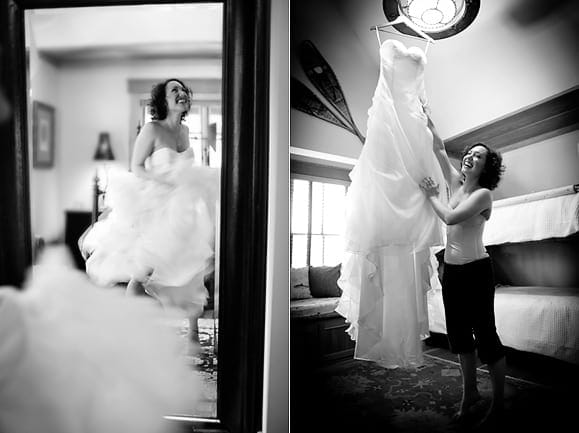 Wedding preparation photos