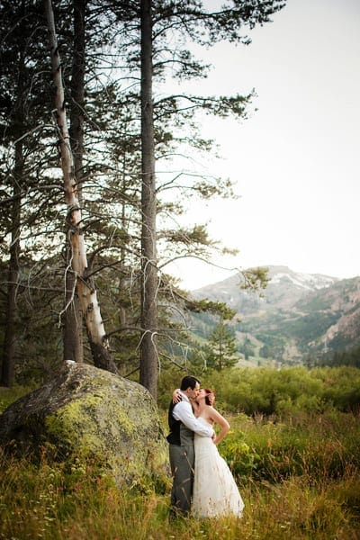 Lake Tahoe wedding backdrop