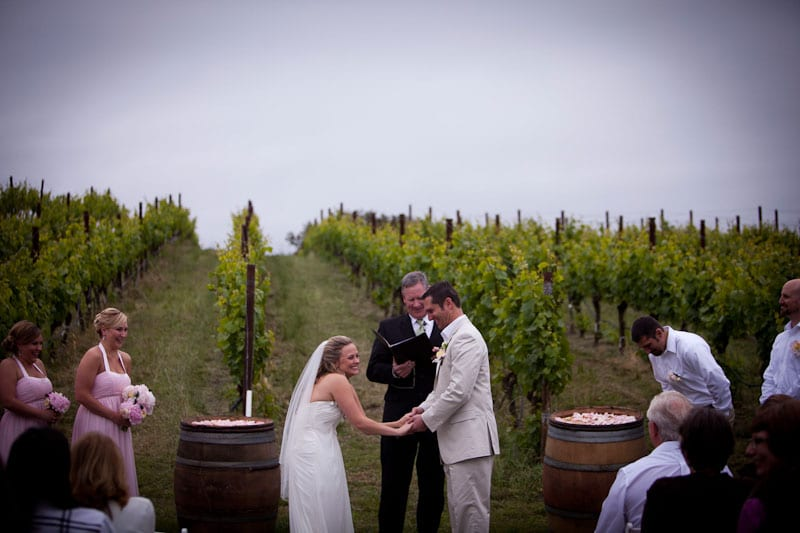 Sonoma wedding ceremony