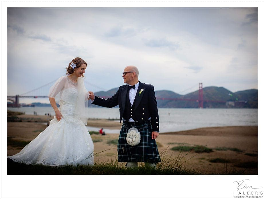 Kilt scottish wedding
