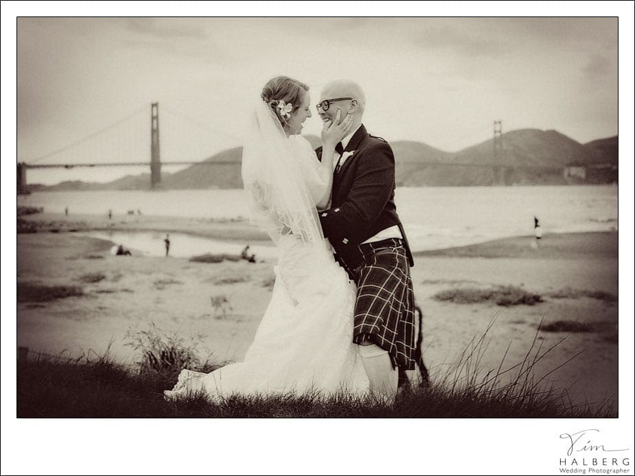 Kilt wedding golden gate