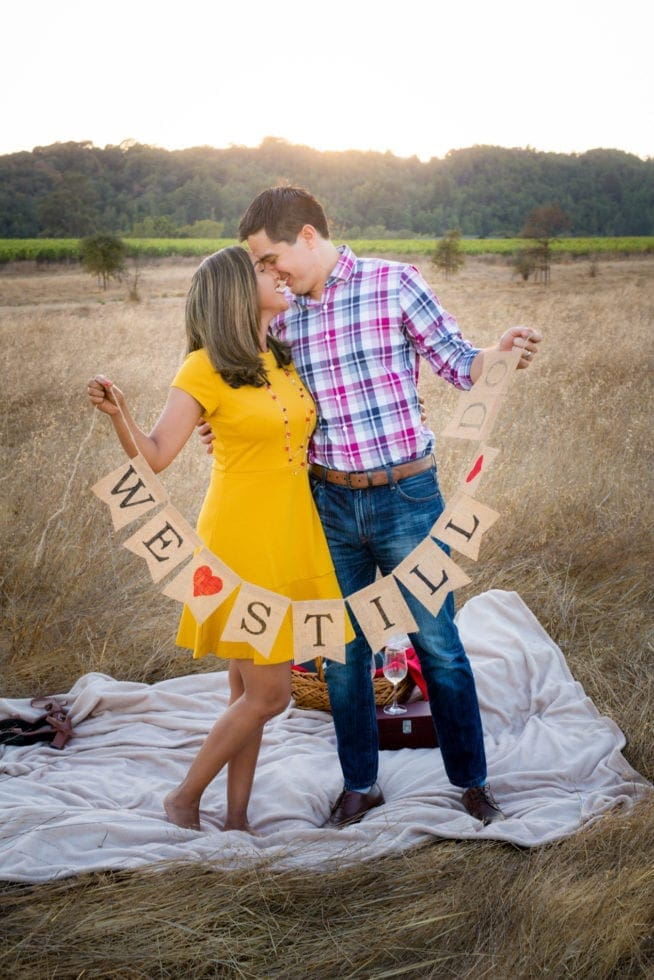 sunset engagement photography session in napa