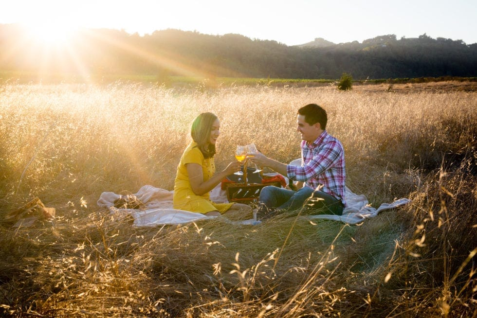 engagement photography session in napa