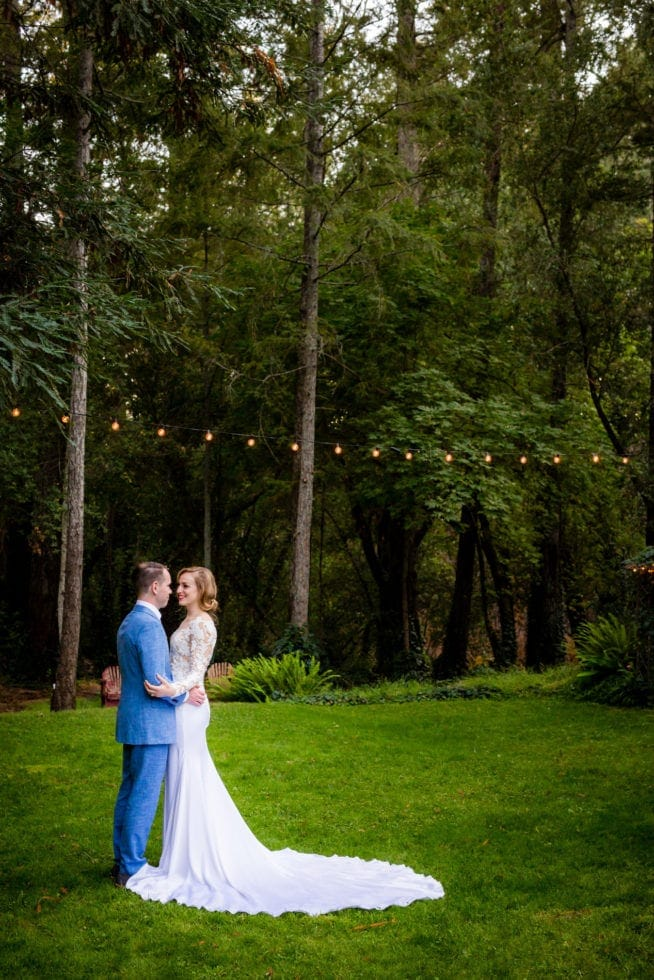 wedding photography at pythian house cottage at night