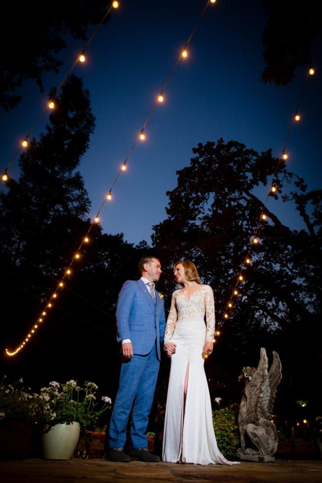 night photographer at pythian house cottage wedding