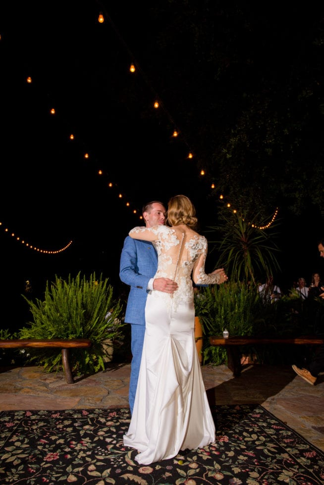 night photos at pythian house cottage wedding