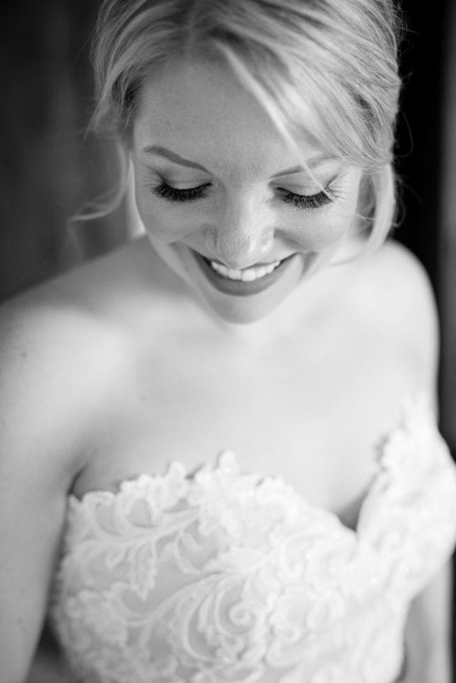 photo of bride's makeup