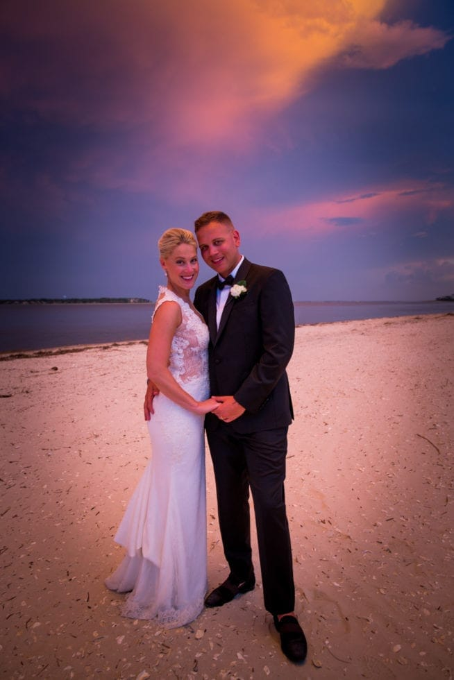 sunset wedding pictures at haig point