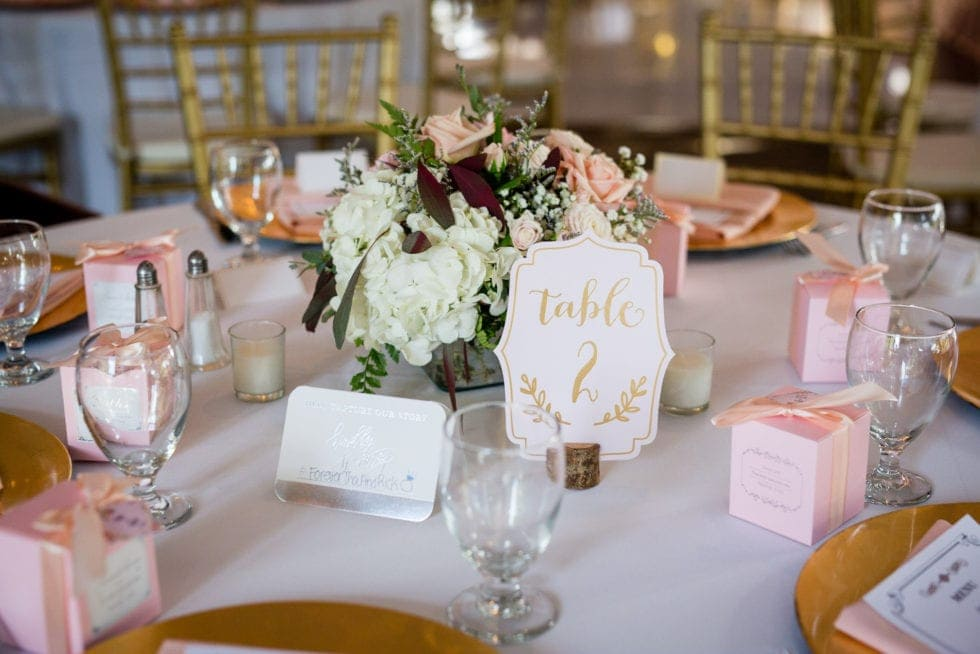 napa wedding table decor