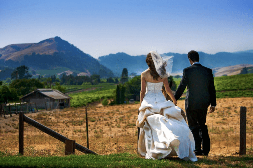 Napa carneros resort and spa wedding
