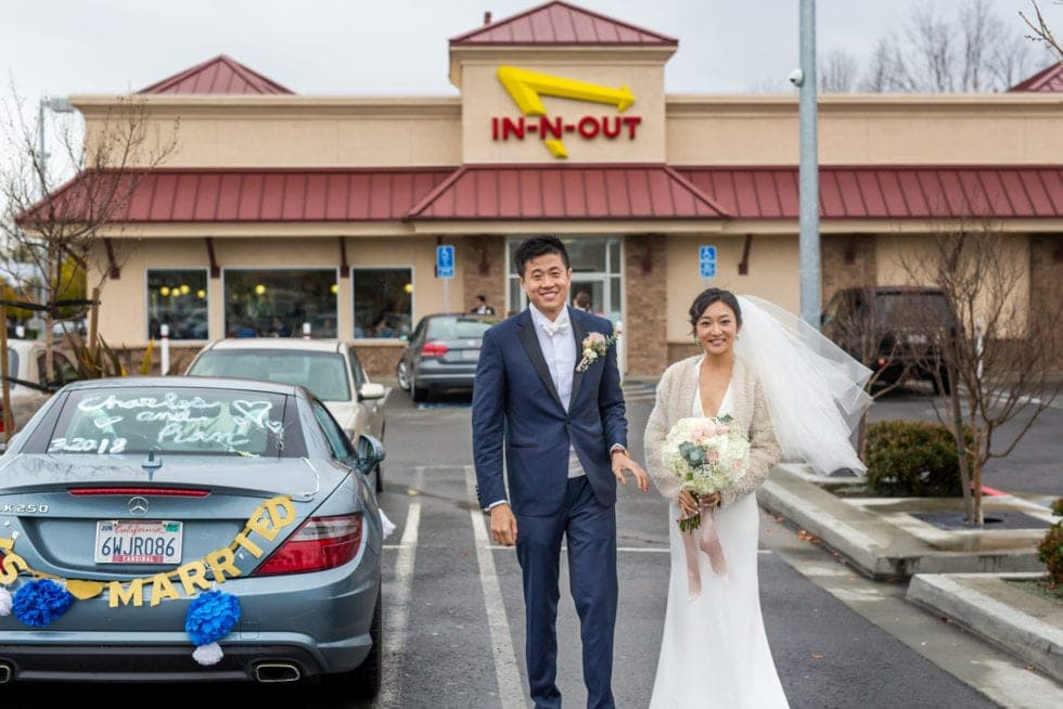wedding photos at in n out