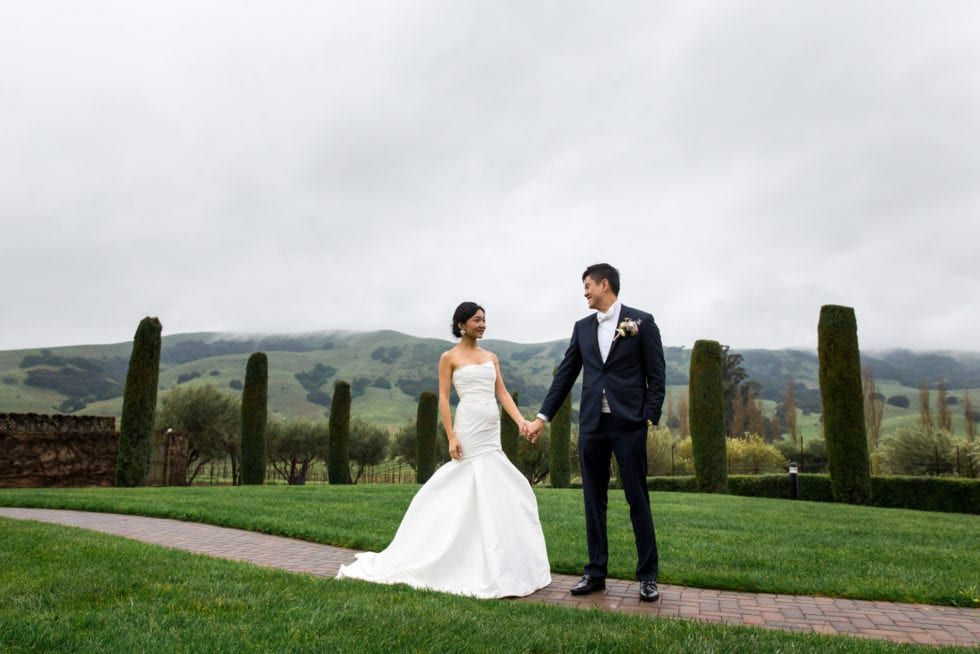 viansa winery wedding portraits