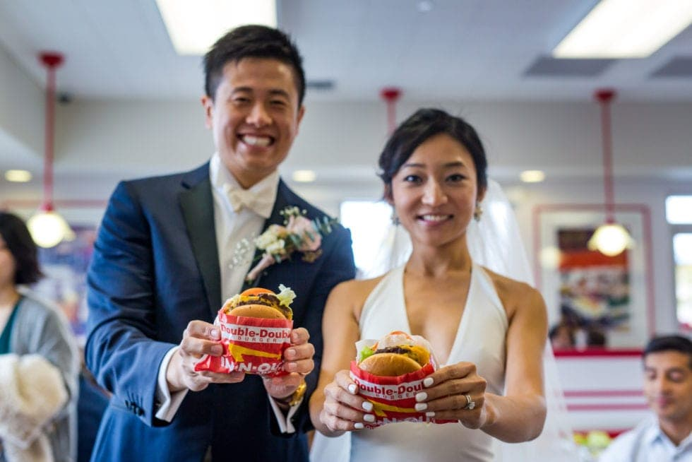 wedding photographer at in n out