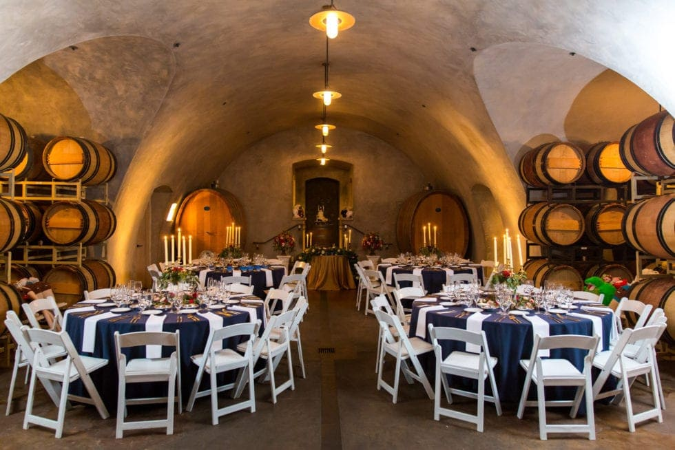 reception room at viansa winery wedding