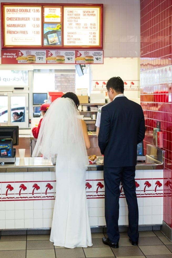wedding photography at in n out