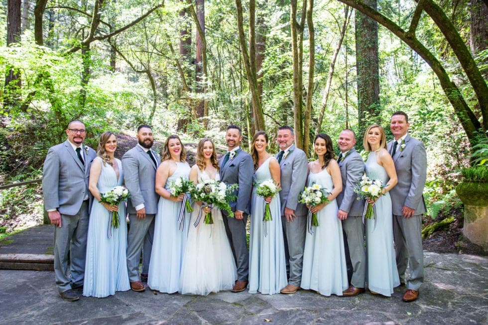 wedding party portrait at griffith woods