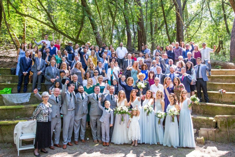 all of the wedding guests for wedding at griffith woods