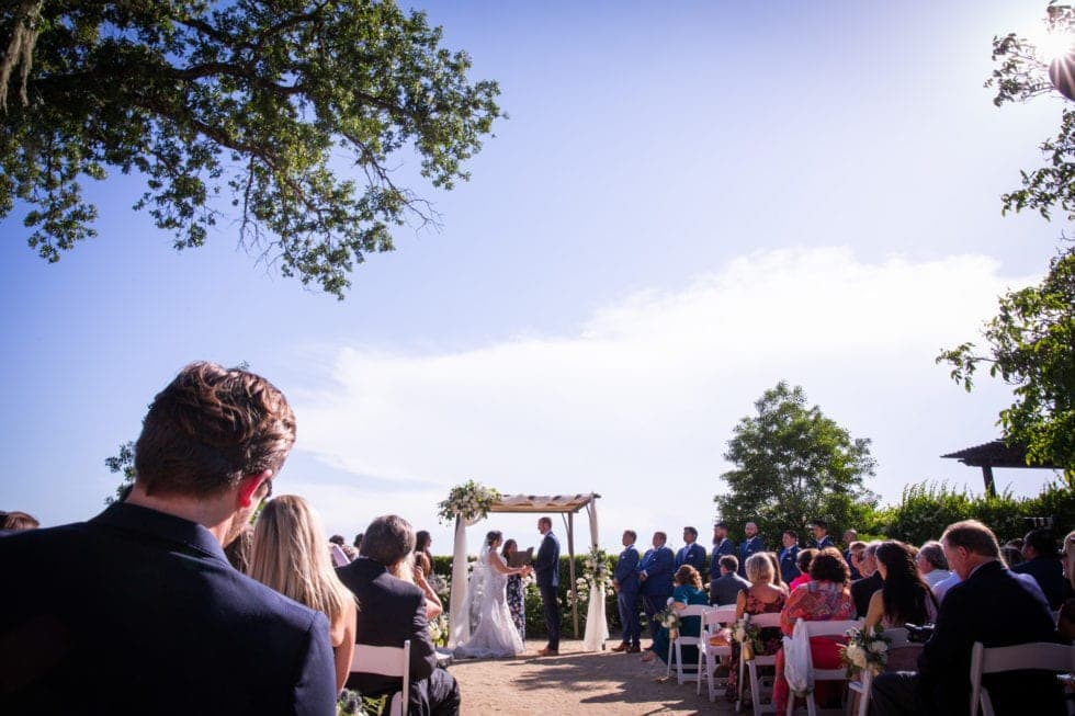 wedding ceremony at soda rock winery
