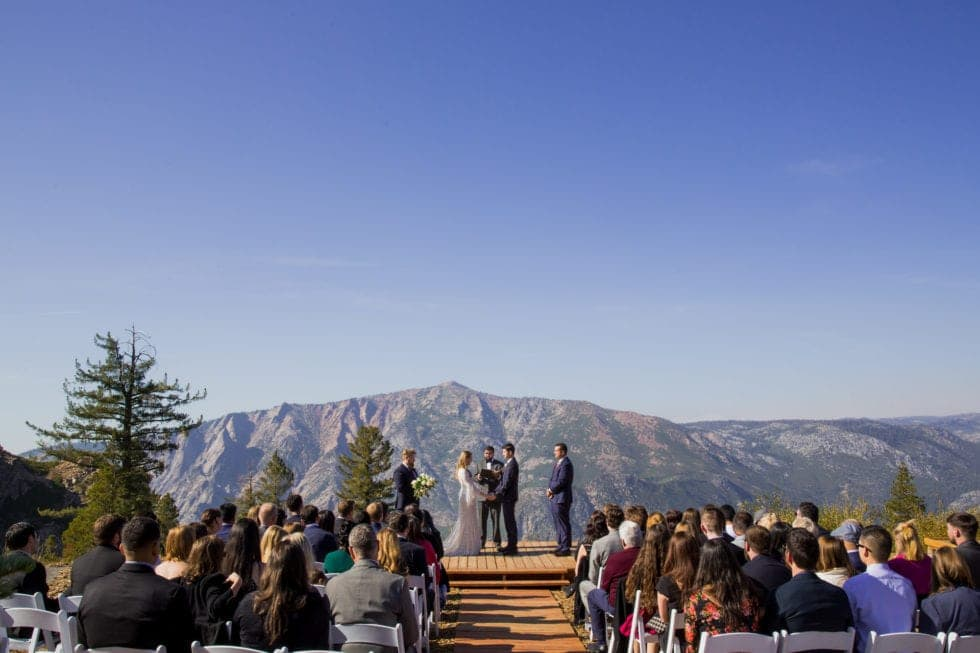 wedding photography of wedding ceremony in bear valley ca