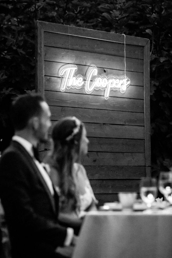 wedding photography of bride and groom at their reception