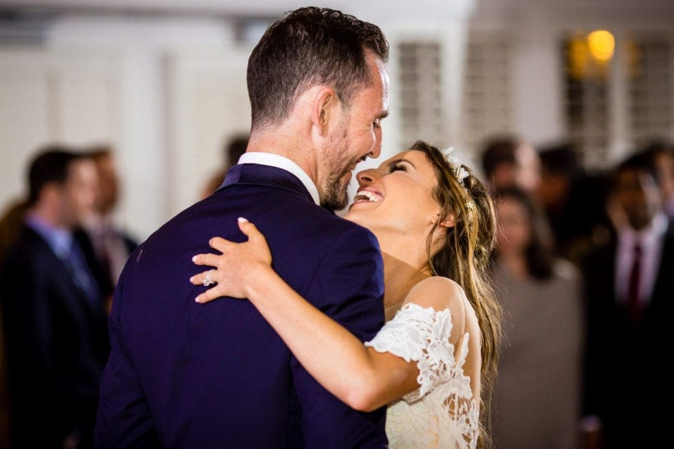 bride and groom first dance at carneros resort